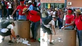 Kid goes viral for picking up trash that two women thrown into the ground time and time again