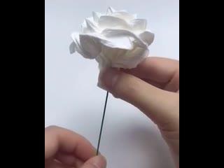 Идея как сделать необычные цветы из обычной туалетной бумаги