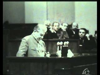 Последнее выступление И.В. Сталина / Last speech of  (1952 г.)