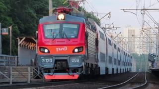 Электровоз ЭП20-069 с поездом№741В Москва-Брянск платформа Мичуринец