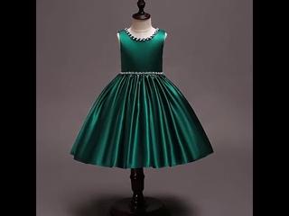 Новая детская одежда от 4 до 10 лет детские платья с бисером для девочек праздничная платье