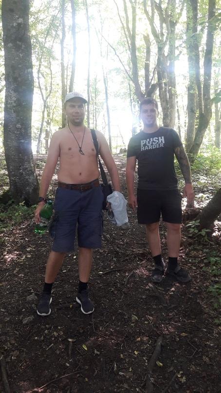 С проводником Вадимом после посещения дольмена