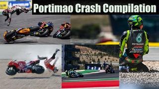 All falls and accidents on the track in Portimao\Все падения  и аварии на треке в Портимао