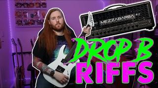 Seven Heavy Drop B Metal Guitar Riffs | Mezzabarba Trinity Amp | Jamie Slays