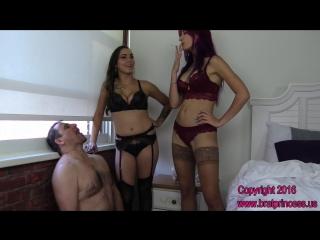 Amadahy & sasha foxx - use chastity slave as human ashtray