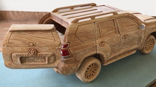 Wood Carving - TOYOTA PRADO Land Cruiser 2020 (New Model) - Woodworking Art