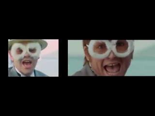 Comparison Elton John I'm Still Standing Movie vs Original...#Rocketman #EltonJohn