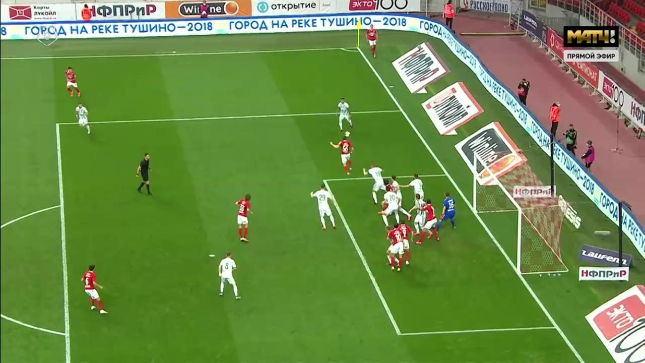Спартак - Ахмат, 3:0. Незасчитанный гол Понсе после офсайда Жиго