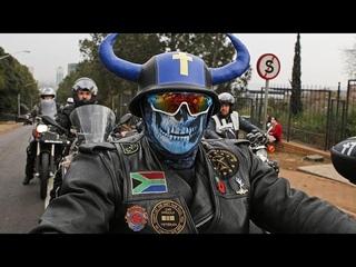 Южноафриканские байкеры против расизма и убийств фермеров…
