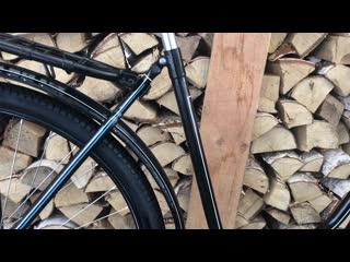 Восстановленный в веломастерской вело в дело антикварный simson suhl 40-х годов прошлого века