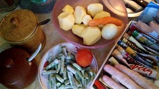 Тушеный картофель со стручковой фасолью...на сале. Кулинария Литература Жизнь. Рецепт обед или ужин