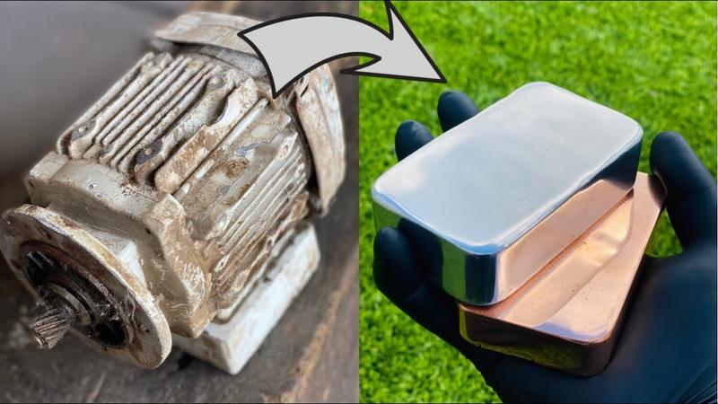 Scrapyard Motor Melt Down Zinc Copper Aluminum Trash To Treasure ASMR Metal Melting BigStackD