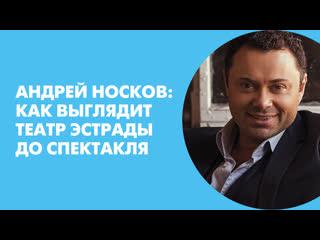 Андрей Носков: как выглядит театр Эстрады до спектакля