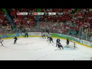 Sidney Crosby Scores Winning Goal Canada VS USA Gold Medal Game!