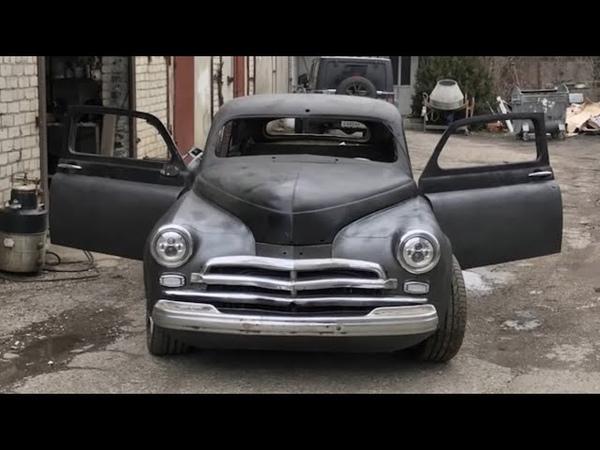 Мужик купил ГАЗ М 20 Победу 1957 г в И построил Самодельный Кастом Зверь ГАЗ М 20 Победа V8 КУПЕ