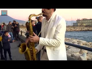 Dance Monkey Street sax Performance