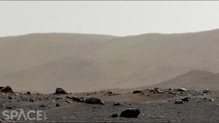 Perseverance sees Jezero Crater rim in 360° Mars panorama