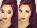 Fall Makeup With Dark Vampy Lips