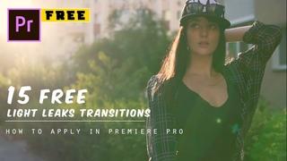 15 FREE Light Leaks Transitions Preset   Premiere Pro