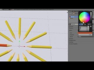 Уроки по Blender. Урок 3-13. Моделинг карандаша. Рендер Cycles, свет и материал._HD.mp4