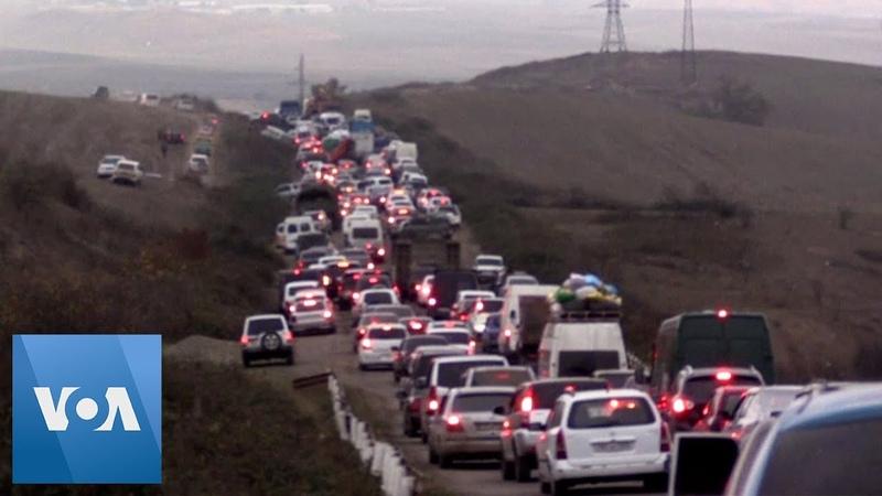 Armenians Flee Disputed Nagarno Karabakh Region