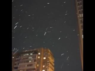 Очередной первый снег в Москве