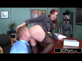 Bossy business lady britney amber loves anal [чулки попка в чулках колготки ass stockings]