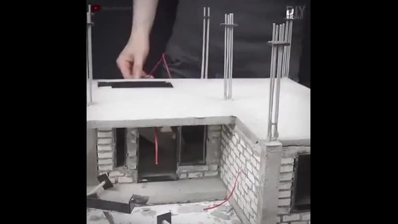 Строительство дома - в миниатюре