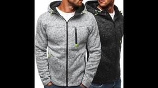 Мужские спортивные повседневные толстовки на молнии, модные жаккардовые флисовые осенние свитера, осенне зимнее пальто, прямая