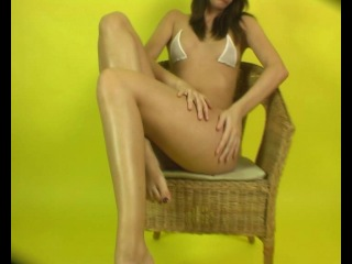 Shiny Lycra Helen Bikini feet-72