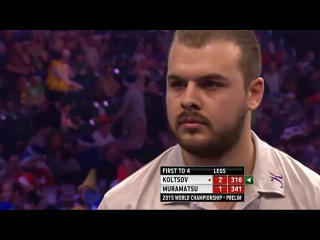 Boris Koltsov vs Haruki Muramatsu (PDC World Darts Championship 2015 / Preliminary Round) HQ