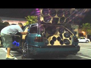 """SBN 2011 Loudest Door Speakers Ever! CRAZY Mids & Highs w/ 4 Walled Off 15"""" Orion HCCA Subwoofers"""