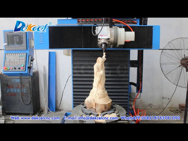 Dekcel CNC 5 Axis Buddha Sculpture Engraving Router Machine