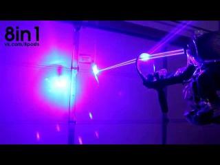 Лазерный пистолет мощностью в 40 Ватт / My Homemade 40W LASER SHOTGUN