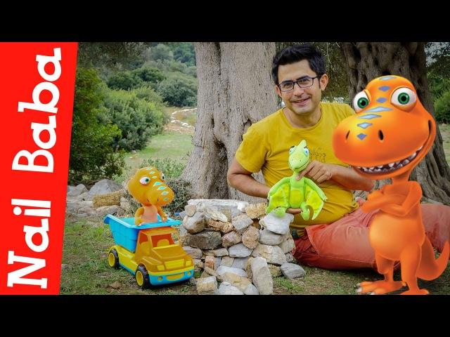 Nail Baba Dinazor Tren çizgi film oyuncakları Dinazorlar piknik'te Çocuklar için video