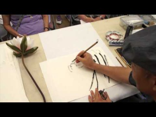 Lotus: Misty Flowers and Landscape, a Workshop with Henry Li in San Diego(1/3)