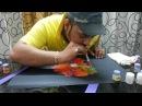 Blow painting technique by Dr.Naresh Rathod