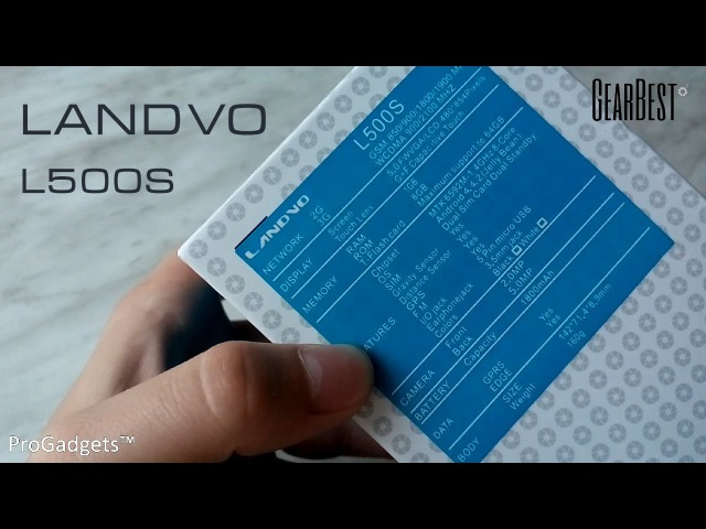 Landvo L500S | Распаковка | GearBest.com