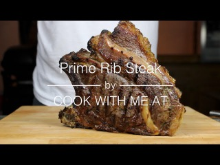 Prime Rib Steak - Grilled on the Big Green Egg - COOK WITH