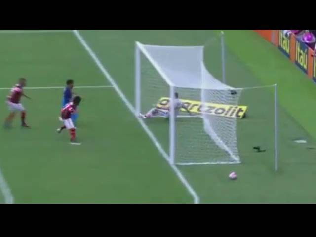 Paolo Guerrero faz gol impedido - Corinthians 2 x 1 Flamengo - Brasileiro 16