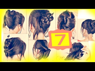 Seven ★ 1-MINUTE HAIRSTYLES with JUST A PENCIL   Easy Updo Hairstyles for Long Medium Hair
