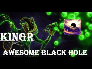 KingR on rubick - AWESOME BLACK HOLE