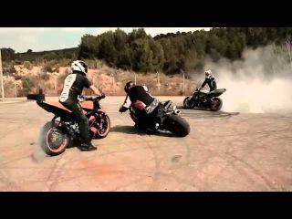 Супер-дрифт на мотоциклах