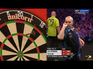 Phil Taylor vs Michael van Gerwen (2016 Premier League Darts / Final)