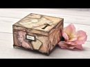 Pudełko decoupage ze zdjęciami retro tutorial DIY