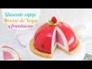 Glaseado espejo sobre mousse de yogur y frambuesa Mirror Glaze Quiero Cupcakes