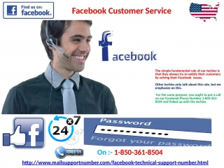 How to get the facebook customer service 1-850-361-8504 straight away?