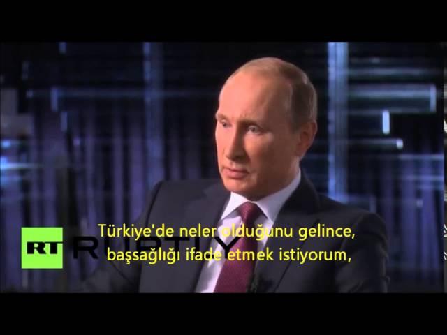 Putin Türkiyede patlamalar hakkında konuşuyor (Türkçe altyazılı)