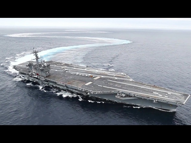 Aircraft Carrier EXTREME Drifting Donuts USS Abraham Lincoln High Speed Turns