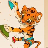Логотип Детский скалолазный центр Тигра. Киров